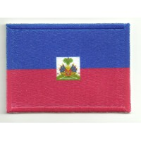 Patch embroidery and textile HAITI 7cm x 5cm