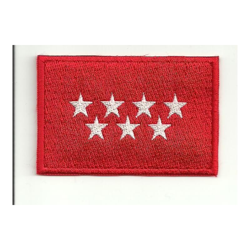 Parche bordado bandera madrid 4cm x 3cm los parches for Bordados personalizados madrid