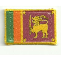 Patch textile and embroidery SRY LANKA 7CM x 5CM