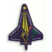 Textile patche NASA MISION COLUMBIA 7CM x 9CM
