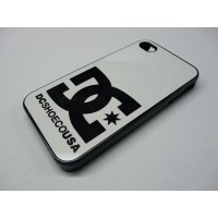 IPHONE 4 Y 4S DC SHOES NEGRO Y BLANCO
