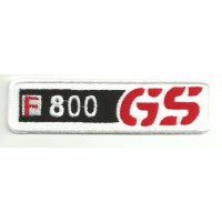 Parche bordado BMW GS F800 12cm x 3cm