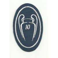 Embroidery patch 10 CUPS CHAMPIONS REAL MADRID THE TENTH 5CM X 7,5cm