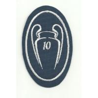 Parche bordado 10 COPAS CHAMPIONS REAL MADRID LA DÉCIMA 5cm x 7,5cm