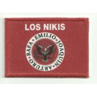 Parche textil y bordado LOS NIKIS 7cm x 4cm