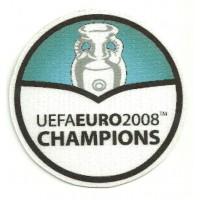 Parche textil UEFAEURO 2008 CHAMPIONS REDONDO 8,5cm