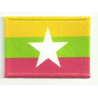 Patch embroidery and textile MYANMAR 5CM x 3CM