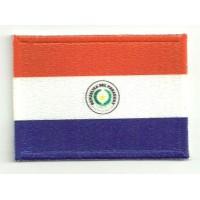 Parche bordado y textil PARAGUAY 5cm x 3cm