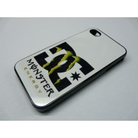 IPHONE 4 Y 4S DC SHOES MONSTER ENERGY NEGRA Y BLANCA