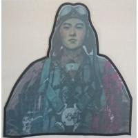 Patch embroidery and textile KAMIMAZE JAPONES 22cm x 23cm