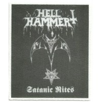 Textile patch HELLHAMMER 7,5 cm x 9 cm
