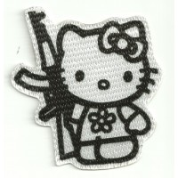 Textile patch KITTY AK 47 7,5cm x 8cm