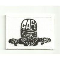 Patch embroidery FLA CAFE 7cm x 5cm