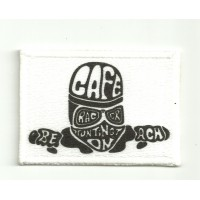 Patch embroidery FLA CAFE 4cm x 3cm