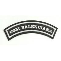 Parche bordado COM.VALENCIANA 11cm x 4cm