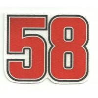 Patch 58 SIMONCELLI 7,5cm x 8,5cm