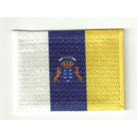 Parche bordadoy textil bandera CANARIAS 4CM X 3CM