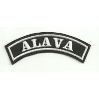 Embroidered Patch ALAVA 11cm x 4cm