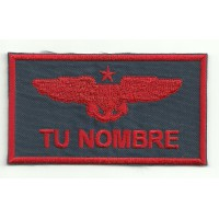 military insignia embroidered patch YOUR NAME 9cm x 5cm NAMETAPES