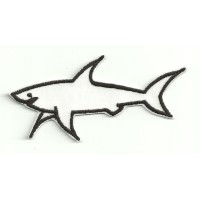 Patch embroidery PROFILE WHITE SHARK 9cm x 4cm