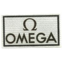 Parche textil OMEGA 7,5cm x 4,5cm