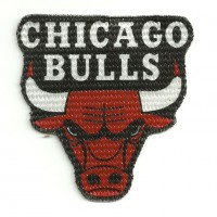 Patch textile CHICAGO BULLS 8cm x 8,5cm
