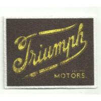 Parche textil TRIUMPH MOTORS CUADRADO 7cm x 5,5cm