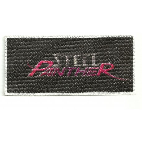 31 Textile patch STEEL PANTHER 8,5cm x 4cm