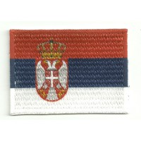 Patch embroidery and textile FLAG SERBIA 4M x 3C