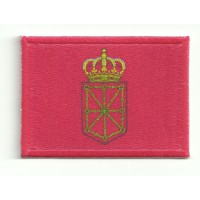 Patch textile and embroidery FLAG NAVARRA 7CM X 5CM