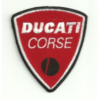 Patch embroidery DUCATI CORSE RED 7CM X 7,8CM