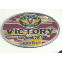 Patch embroidery and textile VICTORY BIKE WEEK 10cm x 6cm