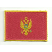 Patch textile and embroidery FLAG MONTENEGRO 4cm x 3cm