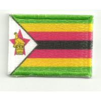 Parche bordado y textil ZIMBABUE 7CM x 5CM