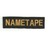Patch embroidery NAMETAPE BLAK 10cm x 2,6cm