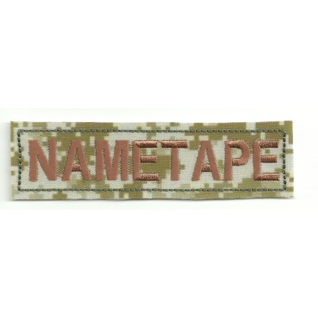 Patch embroidery NAMETAPE DESERT DIGITAL 10cm x 2,6cm