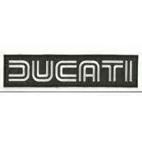Patch embroidery DUCATI RAYAS 10cm x 2,5cm