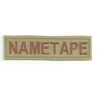 Patch embroidery NAMETAPE BEIG 10cm x 2,6cm