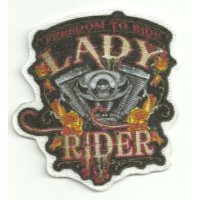 Textile patch LADY RIDER 7cm x 7cm