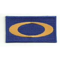 embroidery patch OAKLEY BLUE 8cm x 4cm