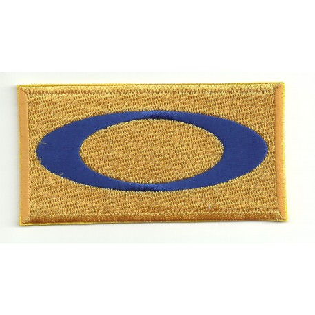 embroidery patch OAKLEY YELLOW 8cm x 4cm