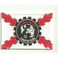 Patch embroidery and textile BANDERA RATA NEGRA 7cm x 5cm