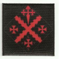 Parche bordado y textil ESCUDO CRUZ DE MALTA 8,3cm x 8,3cm