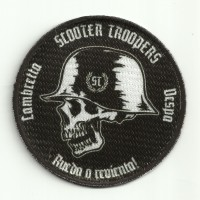Patch embroidery and textile LAMBRETTA SCOOTER TROOPERS 8cm