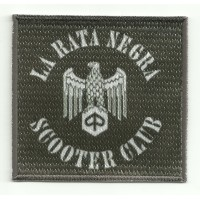Patch embroidery and textile LA RATA NEGRA SCOOTER CLUB 8cm x 7,5cm