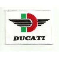Patch embroidery DUCATI RETRO 7,5cm x 5cm