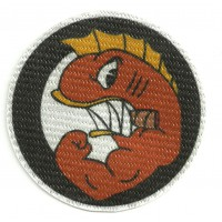 Textile patch FLYING HELLFISH 18cm