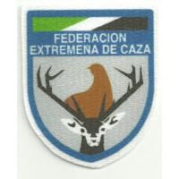 Parche textil FEDERACION EXTREMEÑA DE CAZA 6cm x 7cm
