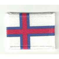 Patch textile and embroidery FLAG ISLAND FEROE 4cm x 3cm