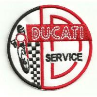 Parche bordado DUCATI SERVICE 7,5cm